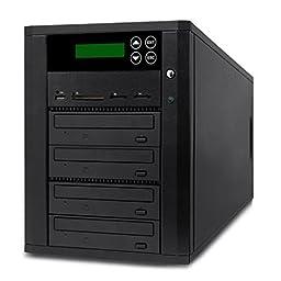 Acumen Disc DV-904-SSP Flash Memory Drive to Media Disc Duplicator with 1-4 Target DVD/CD Burners (with MS, CF, SD, MMC, USB Slots)