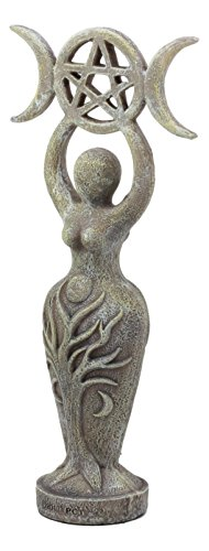 Ebros Abstract Neopagan Shaman Spiral Goddess Statue Lunar Triple Goddess Wicca Symbol Feminine Movement Figurine ()
