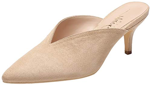 727c32c9aacb Mackin J G224-1 Women Pointed Toe Slip On Kitten Low Heel Mules Pumps Slides