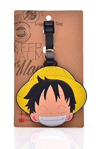 REINDEAR Heavy Duty Anime One Piece Pirates Baggage Luggage Tag US Seller (Monkey D. Luffy Straw Hat)