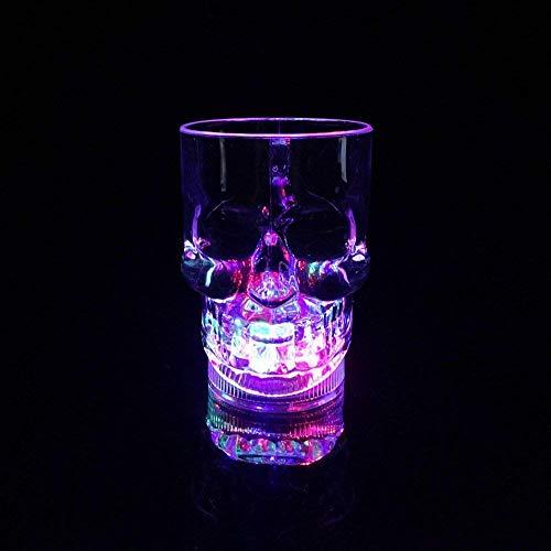 Fun Central (AD008), 3 Pcs 14oz Multicolor LED Skull Mug, LED Light Up Glasses for Kids, LED Skull Cups, LED Skull Mugs, LED Drinking Glasses
