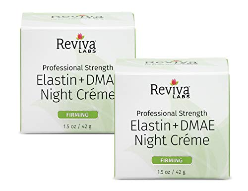 Reviva Labs Elastin & DMAE Night Cream, 1.5-Ounces (Pack of - Creme Elastin