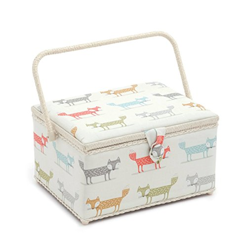 Hobby Gift 'Foxy Dash' Large Rectangle Sewing Box 24 x 31.5 x 19.5cm (d/w/h) by Hobby Gift