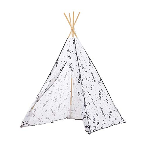 MallBest Kids Play Tents Indian Teepee Tent Children Playhouse Canvas Portable for Indoor and Outdoor (Grey)