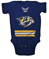 NHL Nashville Predators Beeler Vintage Infant Jersey Creeper, 12-Months, Navy