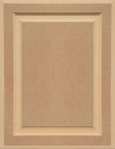 18H x 14W Unfinished MDF Square Flat Panel Cabinet Door by Kendor
