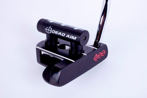 Double Bend Putter Shaft (Dead Aim Mallet Golf Putter with Laser, Black, Right Hand, 33-Inch)