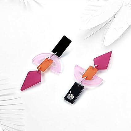 Tonver 1/paires Acrylique g/éom/étrique Candy Boucles doreilles /à tige Bijoux pour femmes filles Lady