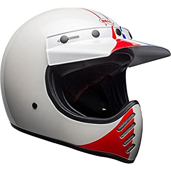 Bell Moto-3 Off-Road Motorcycle Helmet (Ace Cafe GP 66 Gloss White/Red, X-Large)