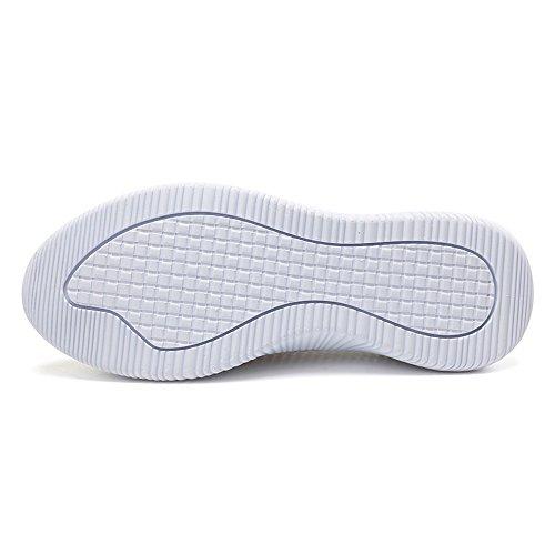 Go 6301 Women Slip Light Heel Walking Mesh Easy White On EnllerviiD Shoes Weight Flat wtSS7