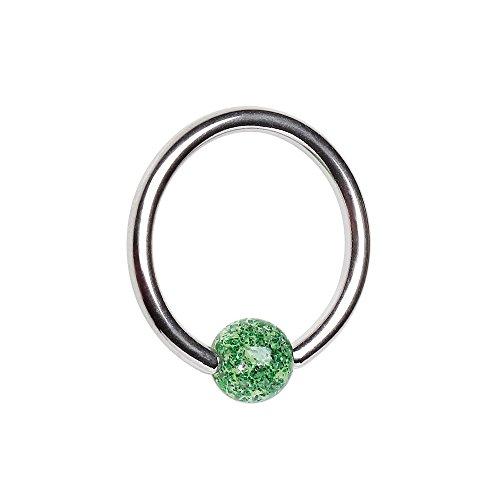 Amelia Fashion 16 Gauge Acrylic Ball Captive Bead Ring 316L Surgical Steel (16 Gauge Length 3/8
