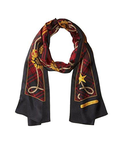 LAUREN Ralph Lauren Women's Katherine Silk Oblong Red One Size ()