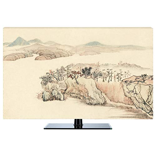 Tv cover New Chinese Dust-proof Protect TV Sets LCD TV Display TINGTING-protective sleeves (Color : Spring river, Size…