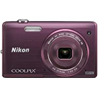 Nikon COOLPIX S5200 Wi-Fi CMOS Digital Camera with 6x Zoom Lens (Plum) (OLD MODEL)