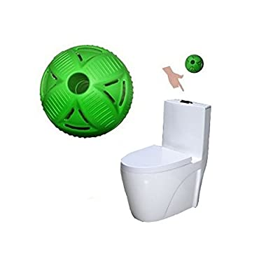 BERON Toilet Bowl Cleaning Ball Eco Toilet Clean Balls for 30000 Flushes Fights Plaque Stains(Green)