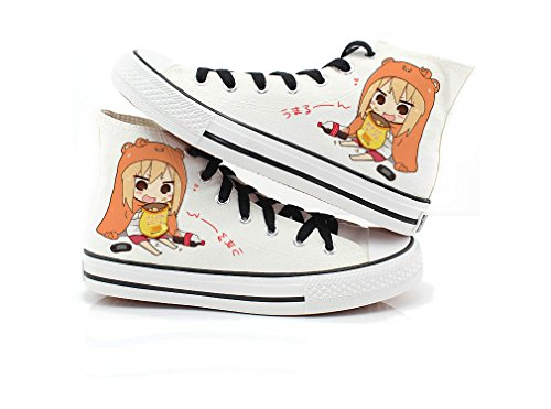 Himouto! Umaru-chan Doma Umaru Cosplay Shoes Canvas Shoes Sneakers Black/White - Fashion Doma