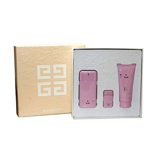 Givenchy Play Gift Set for Her 3-Piece Set (1.7 OZ PLAY EDP SPRAY, .17 OZ EDP PLAY, and 3.3 OZ OZ VELVET BODY LOTION)