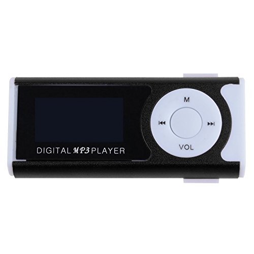 (Mini Clip LCD Screen Music Player With Flashlight Card Slot Support TF Card FM Mp3 Player)