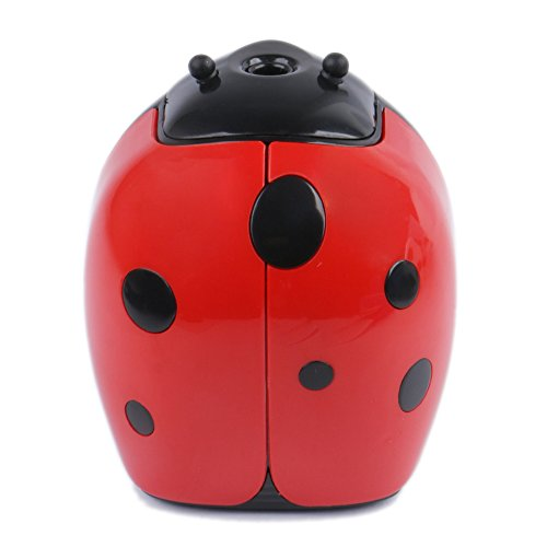 Eagle Cartoon Electric Pencil Sharpener, Battery Operated, Ladybug