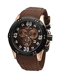 Porsamo Bleu Cancun Silicone Rose Tone & Black & Brown Men's Watch 064BCAR