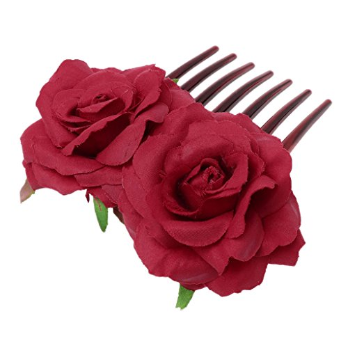 ed Hair Comb, Anti-static Simulation Ornaments (Red) ()
