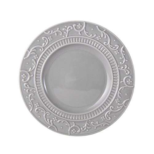Mikasa Italian Countryside Accents Appetizer Plate, Scroll Grey