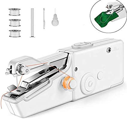 Mini Portable Needlework Cordless Hand-Held Clothes Fabrics Sewing Machine FB