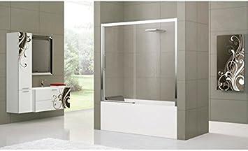 Mampara de bañera Novellini Rose Rosse 2PV: Amazon.es ...