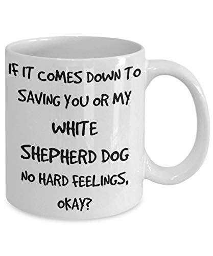 Funny White Shepherd Dog Mug - White 11oz 15oz Ceramic Tea Coffee Cup - Perfect For Travel And Gifts 2