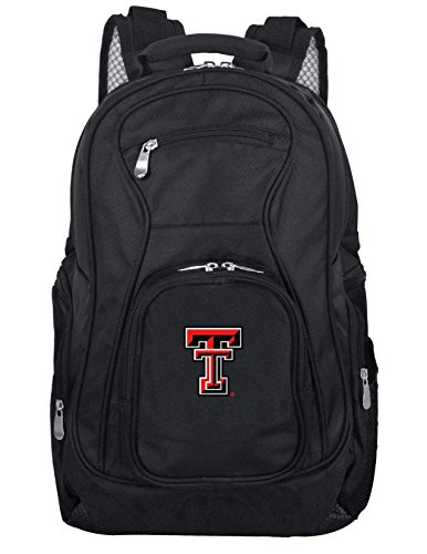(Denco NCAA Texas Tech Red Raiders Voyager Laptop Backpack, 19-inches, Black)