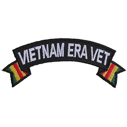 Vietnam Era Vet Patch - 4x1.5 inch. Embroidered Iron on Patch