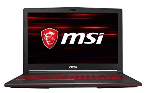 MSI Gaming GL63 9SD-1042IN Intel Core i5-9300H 9th Gen 15.6-inch Gaming Laptop(8GB/1TB HDD + 256GB NVMe SSD/Windows 10 Home/GTX 1660 Ti, 6GB Graphics/Black/2.22Kg ) 9S7-16P732-1043