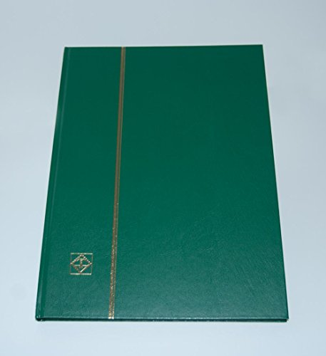 (Lighthouse Hardcover Stamp Album Stockbook with 16 Black Pages, Green, LS4/8)