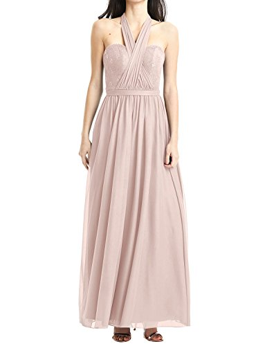 Lace Ivory Prom Evening Dresses Halter Gowns Convertible Bridesmaid Long Chiffon Cdress Dress 8ZqwU