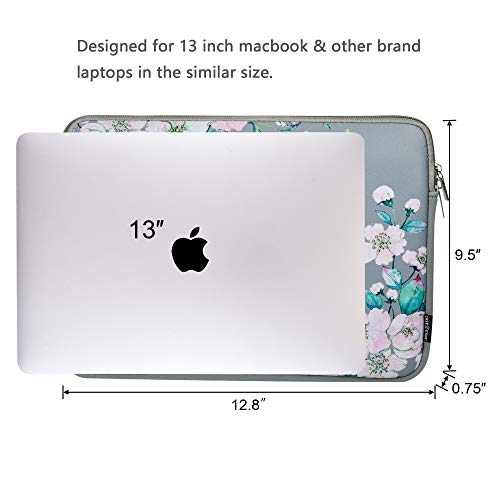 13 Inch Laptop Sleeve bag Macbook Air 13 Inch Sleeve Macbook Pro 13 Inch Protective Neoprene Sleeve Laptop Sleeve 13 Inch Electronics Accessories Organzier Bag Carry Case Pouch (13 Inch Floral sleeve)
