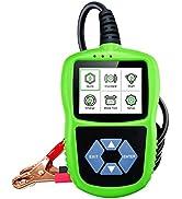 Car Battery Tester 12 V 24V Automotive Load Tester 100-2000 CCA Charging Cranking System Tester A...