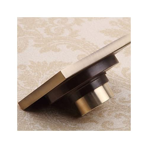 durable service lanmei Bathroom Accessory Antique Brass Finish Solid Brass Floor Drain-LK-1058
