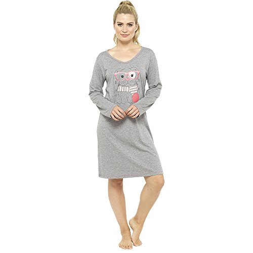 Di La Donne Tom Camicia Short Stampa Franks Sleeved Grigio Notte Fun Da Long Chiaro CSnqCf