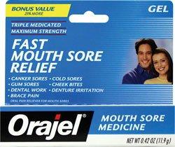 Orajel Mouth Sore Medicine, Gel, .42 Oz by (Orajel Mouth Sore Swabs)