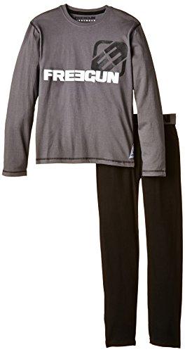 Freegun Jungen Zweiteiliger Schlafanzug, bedruckt Gr. 170, Grau - Grau