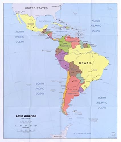Amazon.com: 2006 Map Latin America. - Size: 20x24 - Ready to Frame ...