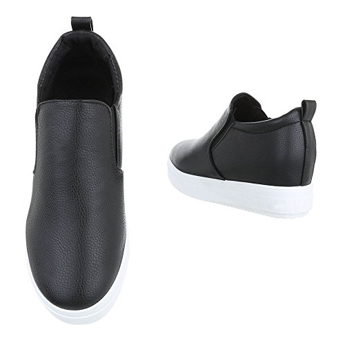 y Schwarz Donna Design Pantofole Ital 6689 qpSPZqw