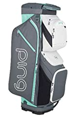 Effortlessly secure and organize your gear while riding with the PING Traverse Cart Bag. PING's lightest full-feature cart bag utilizes a large 14-way top with full-length dividers for meticulous club organization. 13 pockets - including an o...