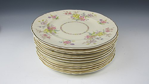 Lot of 10 Syracuse China BRIARCLIF Luncheon Plates VERY GOOD