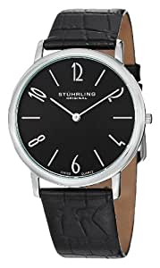 "Stuhrling Original Men's 140.33151 ""Classic Ascot II"" Stainless Steel and Black Leather Ultra-Slim Watch"