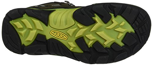 Keen Wanderer Mid WP, Botas de Senderismo Para Mujer Marrón (Raven/bright Chartreuse Raven/bright Chartreuse)