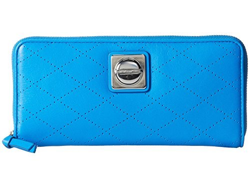 Marc by Marc Jacobs Women's Blue Glow Leather On the Dot Slim Zip Around by Marc by Marc Jacobs