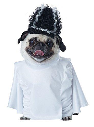 [Fancy Bride of Frankenpup Frankenstein Dog Pet Costume] (Frankensteins Bride Costume)