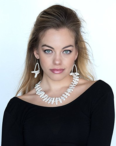Natural Keshi Pearl Necklace and Earrings Set by Dansker Designs Jewelry