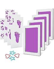 MengNi Baby Footprint and Handprint Ink Pad Kits Pet Paw Print Ink Kits 4 Packs Mediun Size